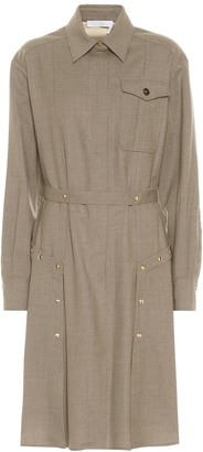Chloé Stretch-wool shirt dress