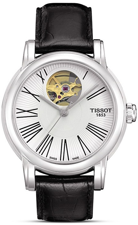 Tissot Lady Heart Silver Automatic Classic Watch, 35mm