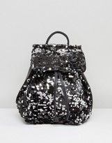 Missguided Sequin Backpack