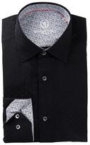 Bugatchi Trim Fit Polka Dot Dress Shirt