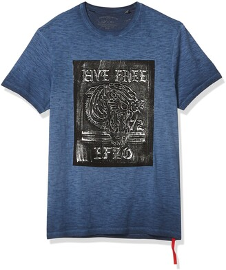 Buffalo David Bitton Men's Short Sleeve Crew Neck t-Shirt with Screen Print