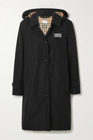 Thumbnail for your product : Burberry Hooded Appliqued Shell Raincoat - Black