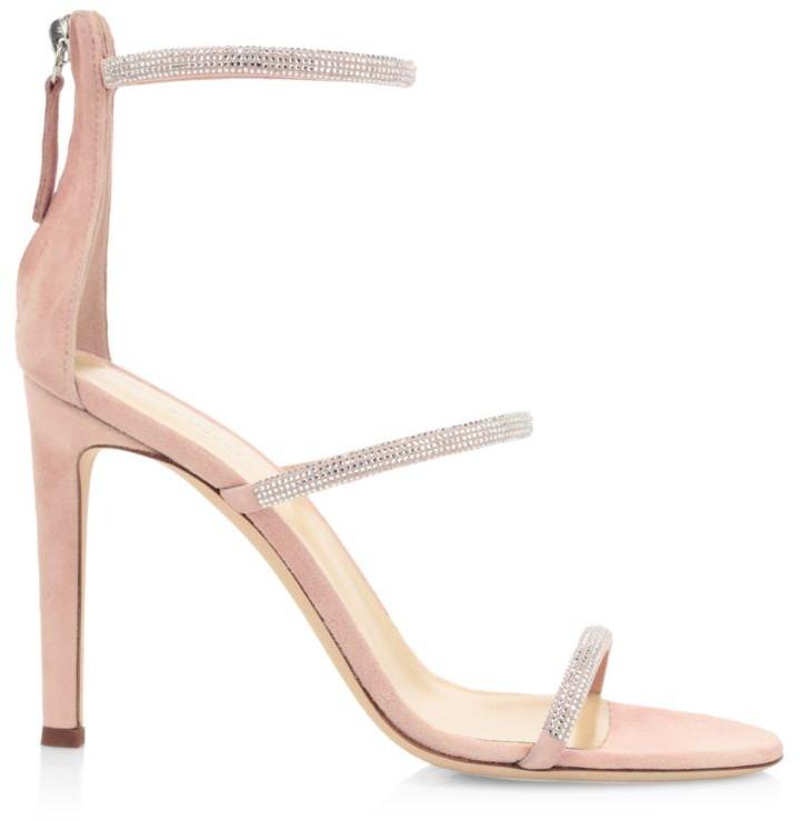 Giuseppe Zanotti Harmony Swarovski Crystal Suede Sandals