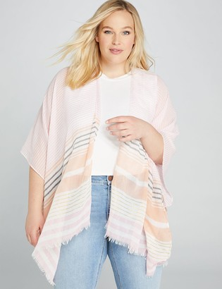 Lane Bryant Sparkling Stripe Kimono Overpiece
