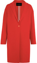 Cédric Charlier Boiled Wool Coat - Red
