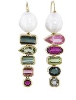 Retrouvaí Tourmaline and Pearl Gypsies Earrings