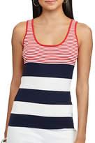 Chaps Petite Striped Sleeveless Sweater