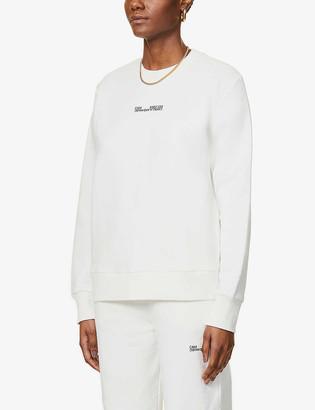 Camilla And Marc Denver logo-embroidered cotton-jersey sweatshirt