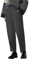 Toast Wool Cotton Pull On Trousers, Charcoal