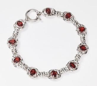 "Sterling Silver Gemstone 8"" Bracelet by Silver Style"