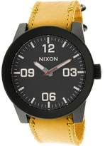 Nixon Men's Corporal A2432448 Yellow Leather Quartz Fashion Watch