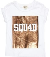 River Island Mini girls white metallic print T-shirt