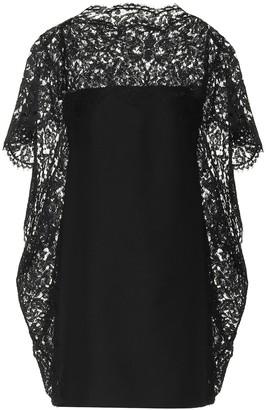 Valentino lace-trimmed minidress