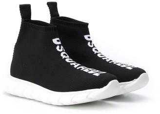 DSQUARED2 Logo Print Slip-On Sneakers