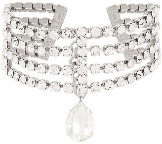 Alessandra Rich Crystal Choker Necklace