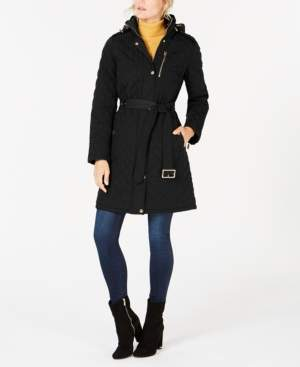 Michael Kors Michael Petite Hooded Quilted Coat, Created for Macy's