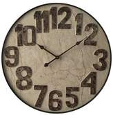 "Infinity Instruments 27.5"" Round Wall Clock Marbled Mocha"