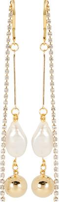Mounser White Cap Pearl Linear Earrings