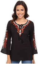 Scully Luciana Embroidered Top