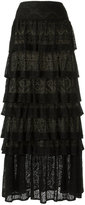 Cecilia Prado ruffled maxi skirt - women - Viscose - P