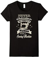 Sewing T-Shirt - The Power Of A Woman With A Sewing Machine