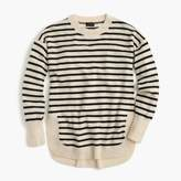 J.Crew Italian cashmere side-slit tunic in stripes