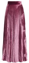Luisa Beccaria Velvet Pleated Skirt