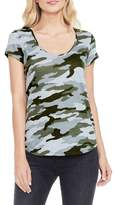 Vince Camuto Two By Camo-print T-shirt
