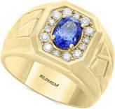 Effy Men's Tanzanite (1-1/8 ct. t.w.) & Diamond (3/8 ct. t.w.) Ring in 14k Gold