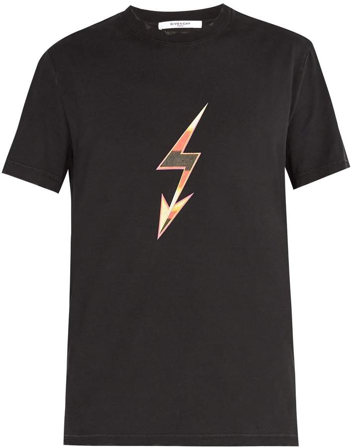 Givenchy Lightning bolt arrow-print cotton T-shirt