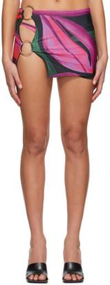 Louisa Ballou SSENSE Exclusive Pink Double Ring Miniskirt