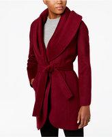 T Tahari Marla Wool-Blend Wrap Coat