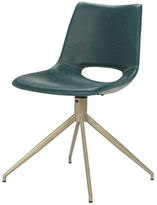 Safavieh Danube Mid-Century Modern Leather Swivel Dining Chair