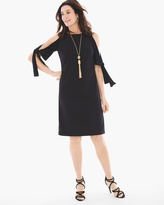 Chico's Cold-Shoulder Tie-Sleeve Dress