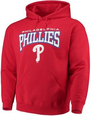 Stitches Men's Red Philadelphia Phillies Team Pullover Hoodie