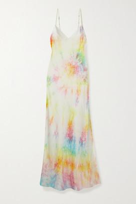 Dannijo Tie-dyed Silk-satin Midi Dress - Yellow