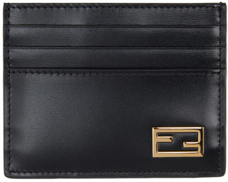 Fendi Black Baguette Card Holder