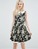 Yumi Collared Dress In Floral Print