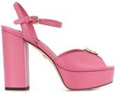 Dolce & Gabbana logo plaque platform sandals