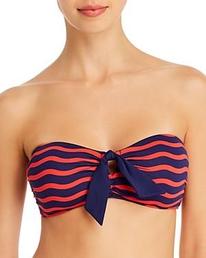 Tommy Bahama Sea Swell Tie-Front Bandeau Bikini Top