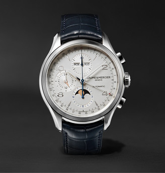 Baume & Mercier Clifton Automatic Chronograph 43mm Stainless Steel And Alligator Watch, Ref. No. 10408