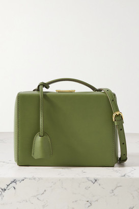Mark Cross Grace Small Leather Shoulder Bag - Army green