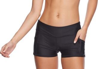 Body Glove Women's Rider Elastic Waist Hybrid Swim Short with UPF 50+