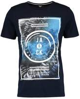 Jack & Jones Jcotakas Crew Neck Slim Fit Print Tshirt Sky Captain