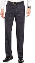 Murano Zac Modern Classic Fit Flat-Front Windowpane Pants
