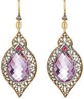 Cathy Waterman Women's Arabesque Drop Earrings-PINK, GOLD, NO COLOR