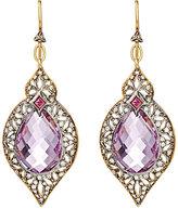 Cathy Waterman Women's Arabesque Drop Earrings-Pink, Gold