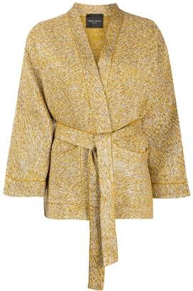 Roberto Collina Glitter Threaded Tie Waist Cardigan
