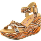 Blowfish Dellis Women Open Toe Canvas Wedge Sandal.