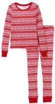Joe Fresh Holiday Waffle Knit Pajama Set (Big Girls)